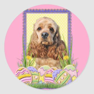 Easter Egg Cookies - Cocker Spaniel Classic Round Sticker