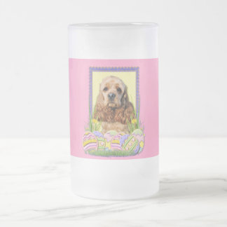 Easter Egg Cookies - Cocker Spaniel Frosted Glass Beer Mug