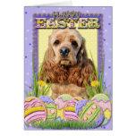 Easter Egg Cookies - Cocker Spaniel Greeting Card