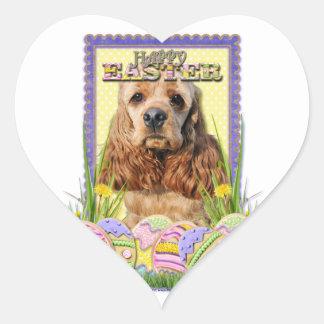 Easter Egg Cookies - Cocker Spaniel Heart Sticker
