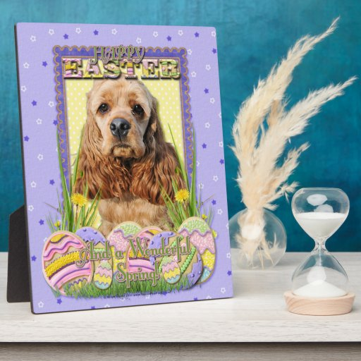 Easter Egg Cookies - Cocker Spaniel Plaque