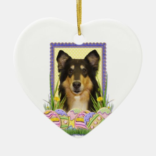 Easter Egg Cookies - Collie Christmas Tree Ornament