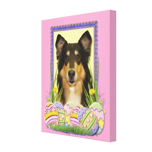 Easter Egg Cookies - Collie Stretched Canvas Print
