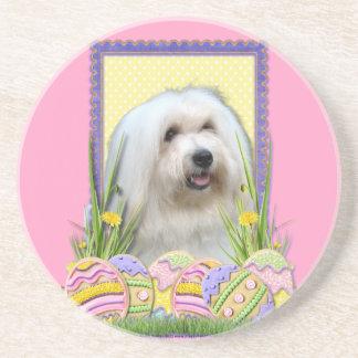 Easter Egg Cookies - Coton de Tulear Beverage Coasters