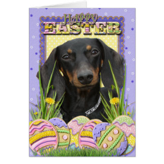Easter Egg Cookies - Dachshund Card