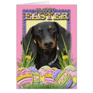 Easter Egg Cookies - Dachshund Card
