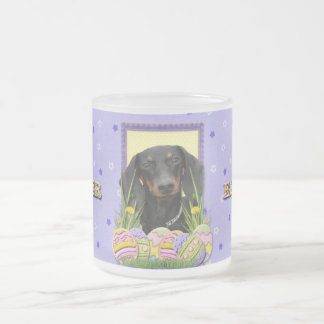 Easter Egg Cookies - Dachshund 10 Oz Frosted Glass Coffee Mug