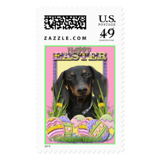 Easter Egg Cookies - Dachshund Postage Stamps