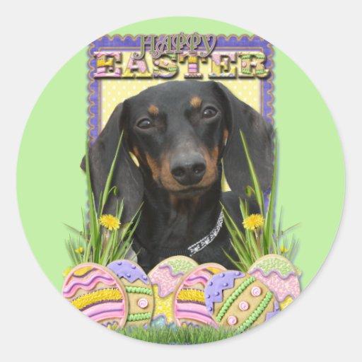 Easter Egg Cookies - Dachshund Round Sticker