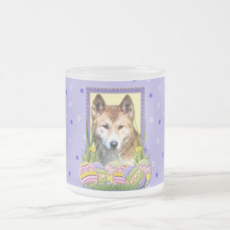 Easter Egg Cookies - Dingo Frosted Glass Coffee Mug