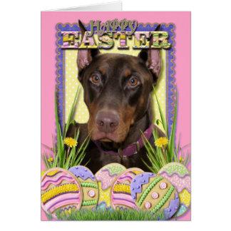 Easter Egg Cookies - Doberman Card