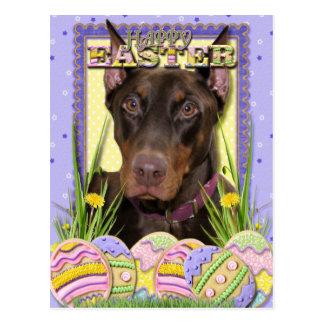 Easter Egg Cookies - Doberman Postcard