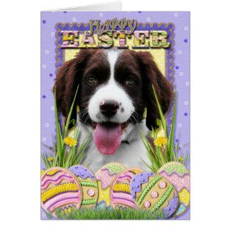 Easter Egg Cookies - English Springer Spaniel Greeting Card