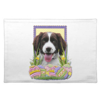 Easter Egg Cookies - English Springer Spaniel Cloth Placemat