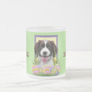 Easter Egg Cookies - English Springer Spaniel Frosted Glass Coffee Mug