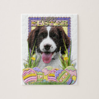 Easter Egg Cookies - English Springer Spaniel Puzzle