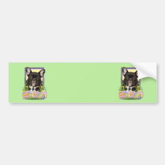 Easter Egg Cookies - French Bulldog Car Bumper Sticker