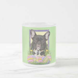 Easter Egg Cookies - French Bulldog Frosted Glass Coffee Mug