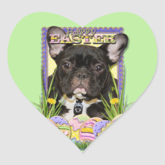 Easter Egg Cookies - French Bulldog Heart Sticker