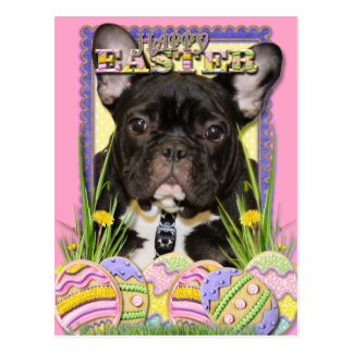 Easter Egg Cookies - French Bulldog Postcard