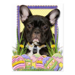 Easter Egg Cookies - French Bulldog Postcards