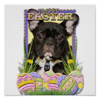 Easter Egg Cookies - French Bulldog Poster
