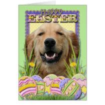 Easter Egg Cookies - Golden Retriever Card