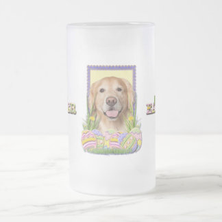 Easter Egg Cookies - Golden Retriever - Corona Frosted Glass Beer Mug