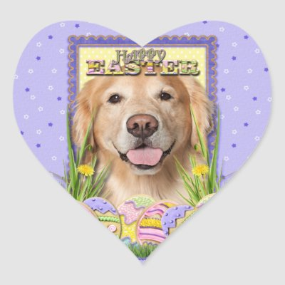 Golden Retriever Easter Puppy Cards Gifts Classic Round Sticker