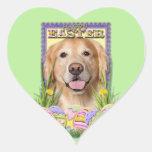 Easter Egg Cookies - Golden Retriever - Corona Heart Sticker