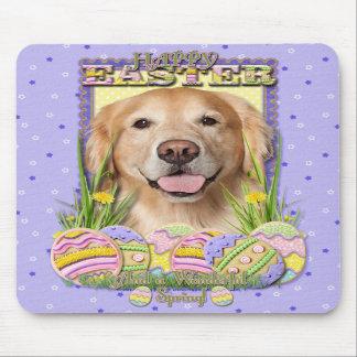 Easter Egg Cookies - Golden Retriever - Corona Mousepad