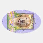 Easter Egg Cookies - Golden Retriever - Corona Oval Sticker