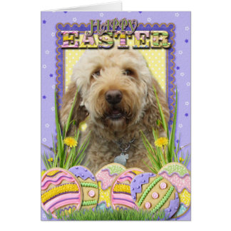 Easter Egg Cookies - GoldenDoodle Greeting Card