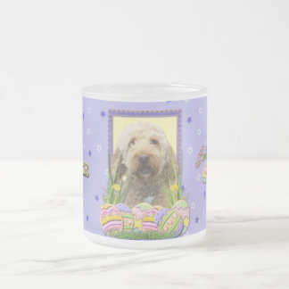 Easter Egg Cookies - GoldenDoodle Frosted Glass Coffee Mug