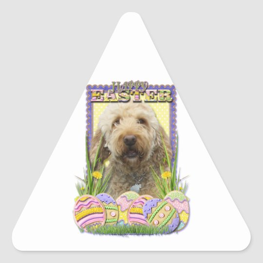 Easter Egg Cookies - GoldenDoodle Triangle Sticker
