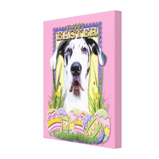 Easter Egg Cookies - Great Dane - Baron Canvas Print