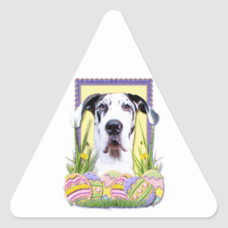 Easter Egg Cookies - Great Dane - Baron Triangle Sticker