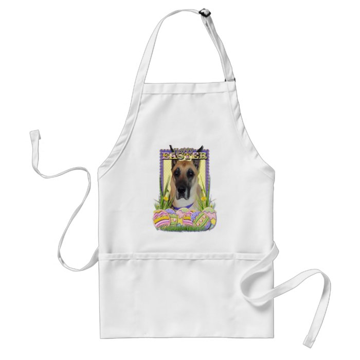 Easter Egg Cookies - Great Dane - Fawn Adult Apron