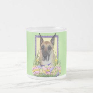 Easter Egg Cookies - Great Dane - Fawn Frosted Glass Coffee Mug