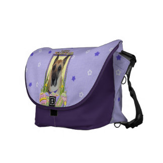 Easter Egg Cookies - Great Dane - Fawn Messenger Bags