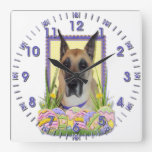 Easter Egg Cookies - Great Dane - Fawn Wall Clocks