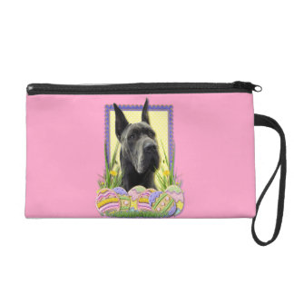 Easter Egg Cookies - Great Dane - Grey Wristlet Clutches