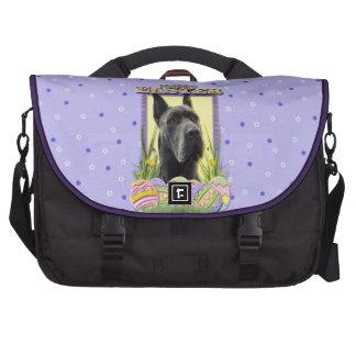 Easter Egg Cookies - Great Dane - Grey Laptop Commuter Bag