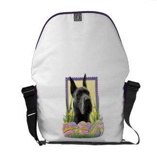 Easter Egg Cookies - Great Dane - Grey Messenger Bags