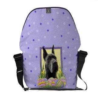 Easter Egg Cookies - Great Dane - Grey Messenger Bag