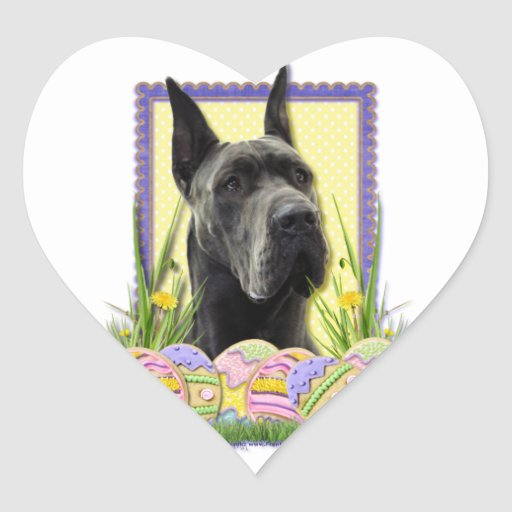 Easter Egg Cookies - Great Dane - Grey Stickers