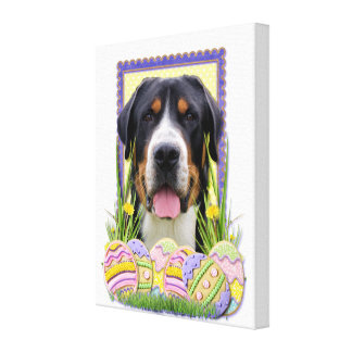 Easter Egg Cookies - Greater Swiss Mountain Dog Canvas Print