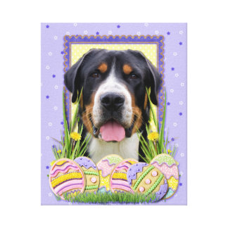 Easter Egg Cookies - Greater Swiss Mountain Dog Stretched Canvas Prints