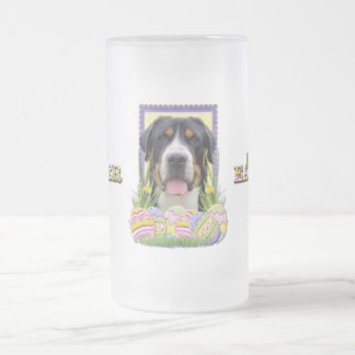 Easter Egg Cookies - Greater Swiss Mountain Dog Frosted Glass Beer Mug
