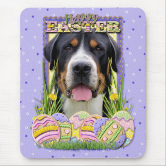 Easter Egg Cookies - Greater Swiss Mountain Dog Mouse Pad